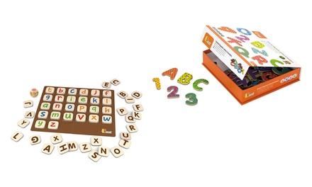 Juegos magnéticos Viga para aprender letras, números o el abecedario