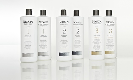 Nioxin Hair-Thickening System Liter Duos. Multiple Formulations Available.