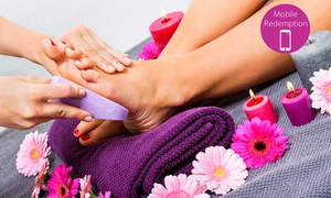 Victory Nails Studio: Gel Manicure and Pedicure for One ($39) or Two People ($69) at Victory Nails Studio, CBD (Up to $160 Value)