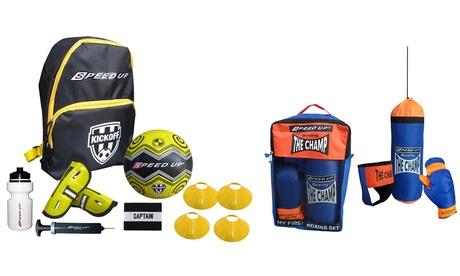 Set allenamento per box o calcio per bambini, disponibili in 4 modelli