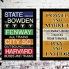 """Vintage 18""""x27"""" City Subway Signs on Stretched Canvas"""
