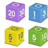 Datexx TimeCube Simple Timers (4-Pack)