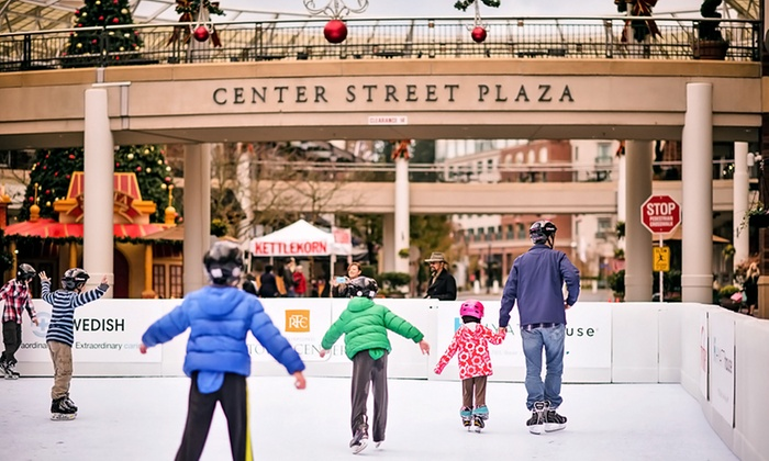 Redmond Town Center - Downtown Redmond: Skating Rink Pass for Two or Four at Redmond Town Center (Up to 46% Off)