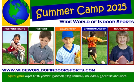 Up to 60% Off Sports Camp for 1 or 2 children at Wide World of Indoor Sports - North Smithfield