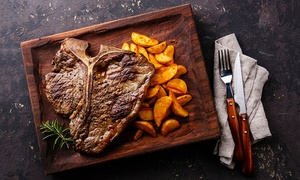 Enhorabona Food and Wine: Menu con antipasto, 1,2 Kg di fiorentina a coppia, contorno, dolce e bottiglia di vino per 2 o 4 persone da Enhorabona