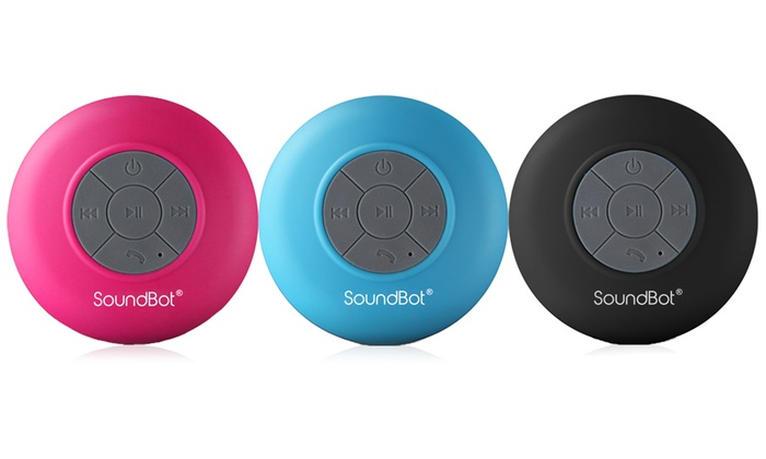 SoundBot SB510 Water-Resistant Portable Bluetooth Shower Speaker & Hands-Free Speakerphone