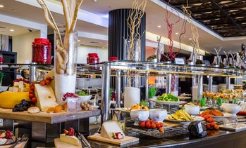 Breakfast Buffet with Drinks: Child (AED 69), Adult (AED 89)