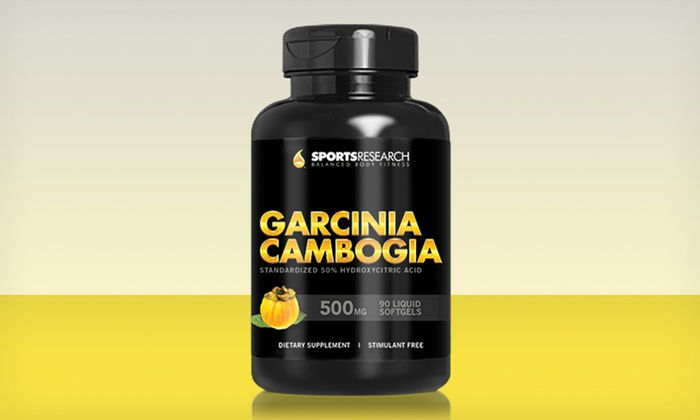 Sports Research Garcinia Cambogia Weight Loss Supplements: One, Two, or Three 90-Capsule Bottles of Sports Research Garcinia Cambogia Supplements (Up to 77% Off)