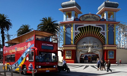Open Top DoubleDecker Bus Tour: Child $12, Adult $22 or Family Pass $45, City Sightseeing Melbourne Up to $90 Value