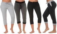 4-Pack Coco Limon Womens Capri Jogger Pants
