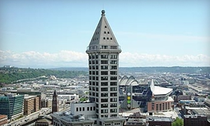 Smith Tower Observation Deck - Pioneer Square: Smith Tower Observation Deck Outing for Two or Four (Up to 53% Off)