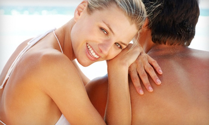 Tan Line Salon - Sharp Park: One Month of Unlimited Bed Tanning, or One or Three Airbrush Tans at Tan Line Salon (Up to 62% Off)