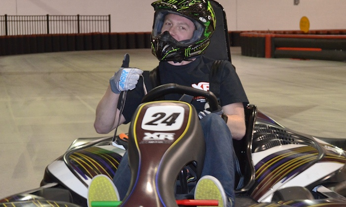 XhilaRacing - Florence: $17 for One Adult or Two Youth High-Speed Go Kart Races at XhilaRacing (Up to $30 Value)