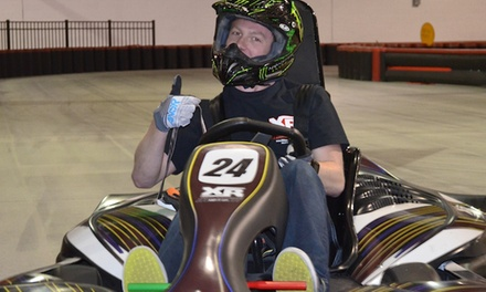 $17 for One Adult or Two Youth High-Speed Go Kart Races at XhilaRacing (Up to $30 Value)