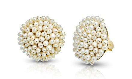 18K Gold-Plated Freshwater Pearl Earrings