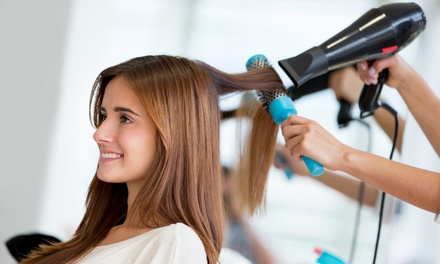 Wash, Cut and Blow-Dry with Optional Half Head of Highlights at Maral Beauty (Up to 49% Off)
