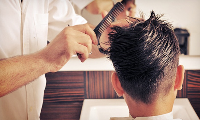 Sloane Square Barbers & Shoppe - Multiple Locations: Men's Cut, Shampoo, and Neck Shave with Optional Hot Lather Shave at Sloane Square Barbers & Shoppe (Up to 55% Off)