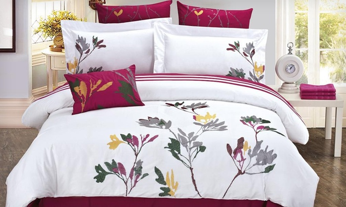 Season's Collection Comforter Set: Season's Collection Five-Piece Comforter Sets (Up to 47% Off). 15 Options Available. Free Shipping and Free Returns.