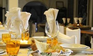 Premiata Osteria dei fiori: Menu Piemontese con tris di antipasti, bis di primi e secondi, vino da Premiata Osteria dei Fiori (65% di sconto)