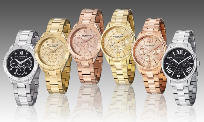 Stuhrling Original Women's Stainless Steel Watch: Stuhrling Original Women's Stainless Steel Multifunction Watch. Multiple Styles Available. Free Shipping and Returns.