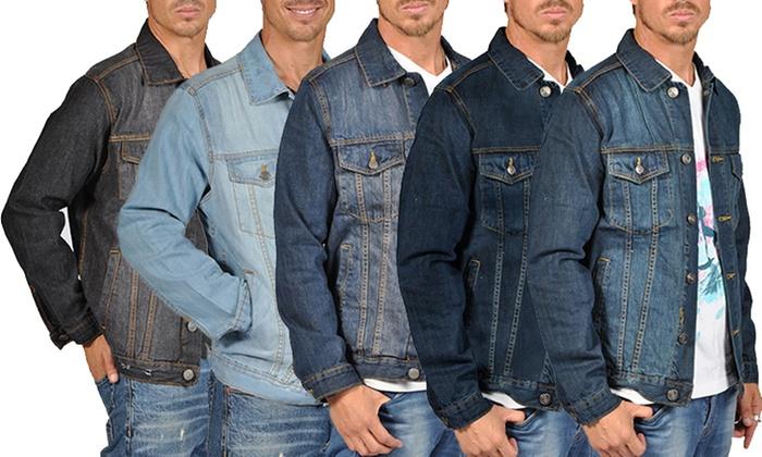 Men's Denim Jacket with Pockets