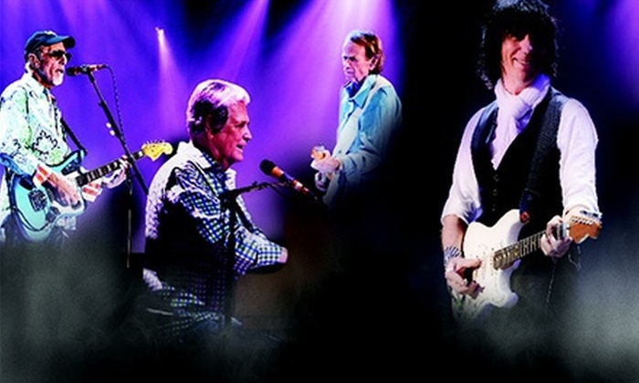Brian Wilson & Jeff Beck - St. Augustine: $30 to See Brian Wilson & Jeff Beck at St. Augustine Amphitheatre on October 3 at 7 p.m. (Up to $68.65 Value)