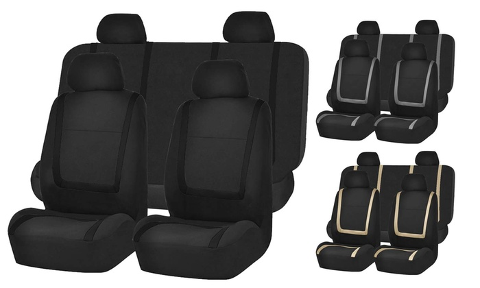 Flat Cloth Automobile Seat Cover Set