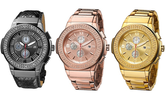 JBW Saxon Men's Diamond Watch | Groupon Goods