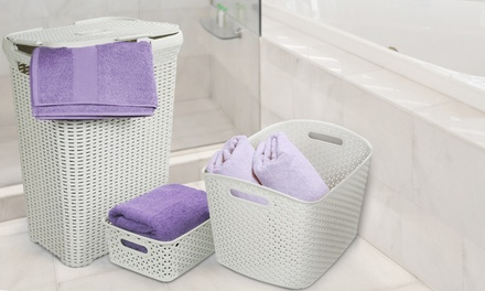 Curver Rattan-Style Three-Piece Laundry Set for £26.99 With...