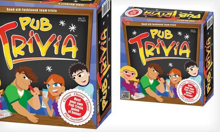 Pub Trivia Board Game: $15 for a Pub Trivia Board Game ($29.99 List Price). Free Shipping.