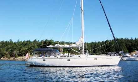 5-Night San Juan Islands Sailing Trip from Sail Northwest Charters. Price per Person Based on Double Occupancy.