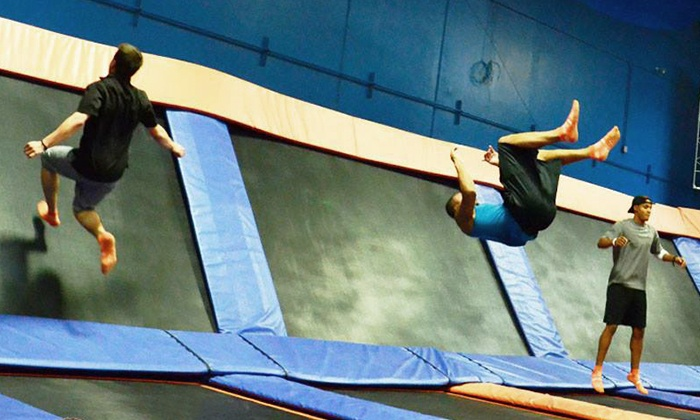 Sky Zone Indoor Trampoline Park - Multiple Locations: Two-Hour Indoor Trampoline Session for Two on a Weekday or Weekend at Sky Zone (Up to 60% Off)