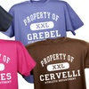 """Up to 45% Off Custom """"Property Of"""" T-Shirts"""