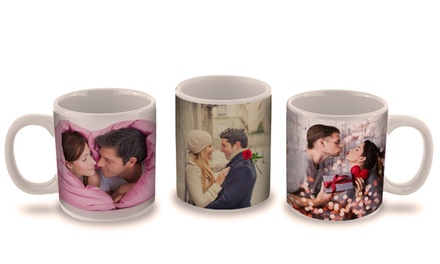 1, 2, or 3 Personalized Photo Mugs