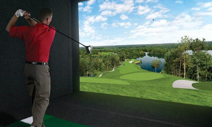 City Tee Time - The Loop: Simulated Golf for One or Four at City Tee Time (Up to 50% Off). Two Options Available.