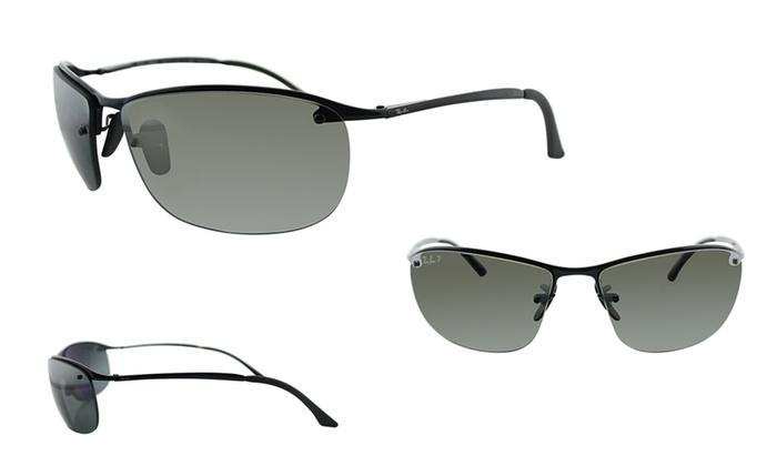 153a044a685 Ray-Ban Polarized Sports Sunglasses Black Metal Plastic Polarized 63-15-125  Grey Gradient Yes