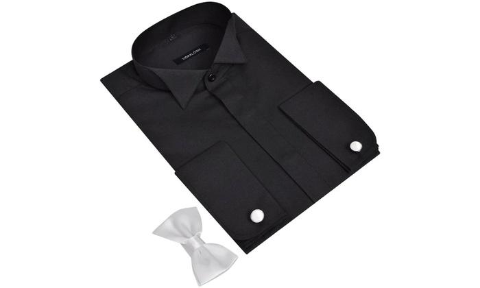 chemise avec bouton de manchette groupon. Black Bedroom Furniture Sets. Home Design Ideas