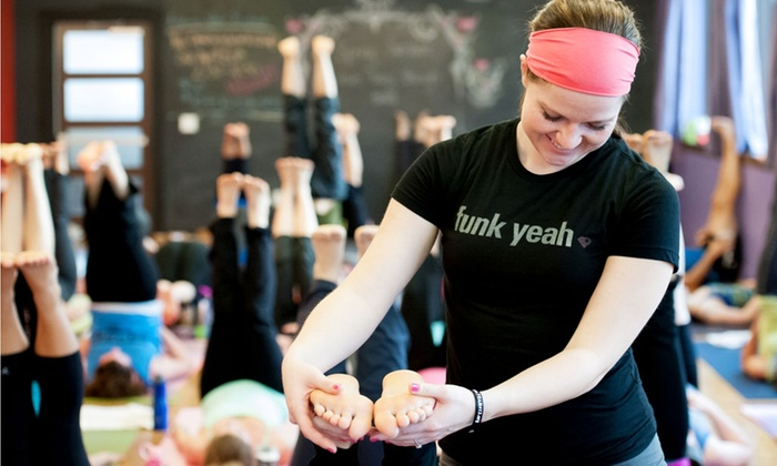 The Funky Buddha Yoga Hothouse - Multiple Locations: $30 for Five Drop-In Classes at The Funky Buddha Yoga Hothouse (70% Off)