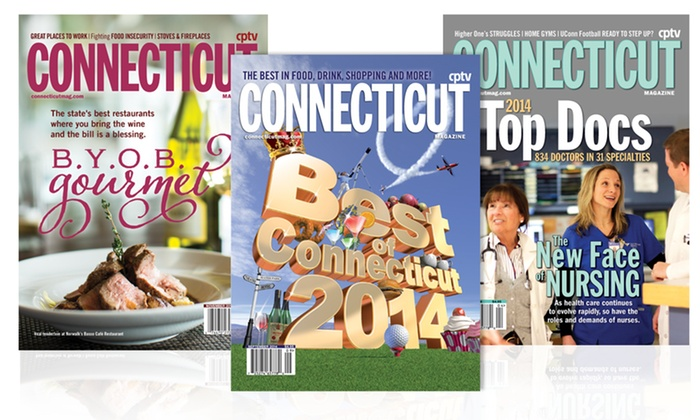 """Connecticut Magazine - Fairfield County: $10 for a One-Year Subscription to """"Connecticut Magazine"""" ($19.97 Value)"""