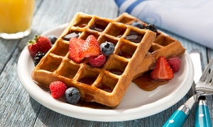 Waffle Hauzz: $14 for Four Groupons, Each Good for $6 Worth of Food at Waffle Hauzz ($24 Total Value)