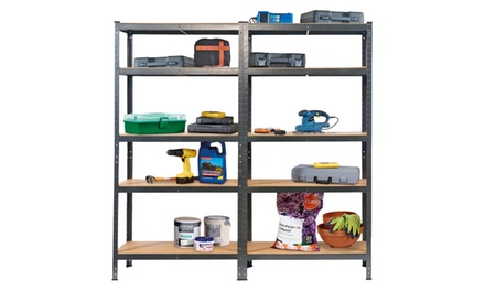1.8M Heavy Duty Garage Shelving from £25.99 With Free Delivery (Up to 74% Off)