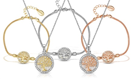 Ensemble de bijoux Arbre de vie avec Cristaux Swarovski®