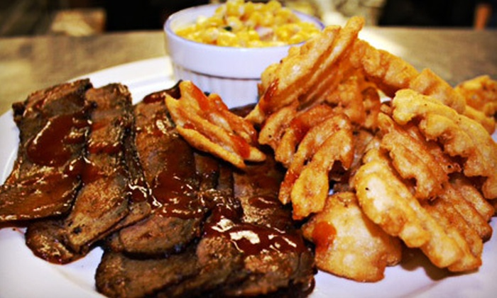The Bull n' Barrel - Windsor: Meal for Four with Entrees and Beer, or $15 for $30 Worth of Southern Smokehouse Fare at The Bull n' Barrel