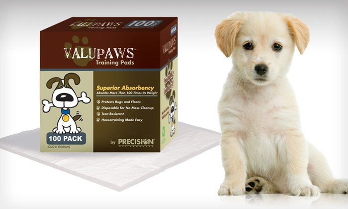 100 Precision Pet Training Pads: $29.99 for a 100-Count Pack of Precision Pet ValuPaws Training Pads ($39.99 List Price). Free Shipping and Free Returns.