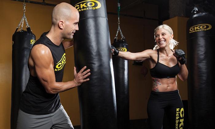 CKO Kickboxing - Randolph: 3 Kickboxing Classes or 6 Kickboxing Classes with Gloves at CKO Kickboxing (Up to 72% Off)
