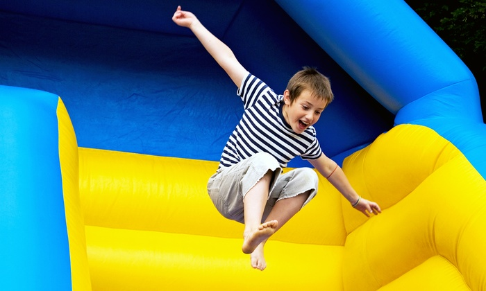 Inflatable Fun - Merced: 3 One-Hour Play Sessions for 1 Kid or 1 One-Hour Play Session for 2 or 4 Kids at Inflatable Fun (43% Off)