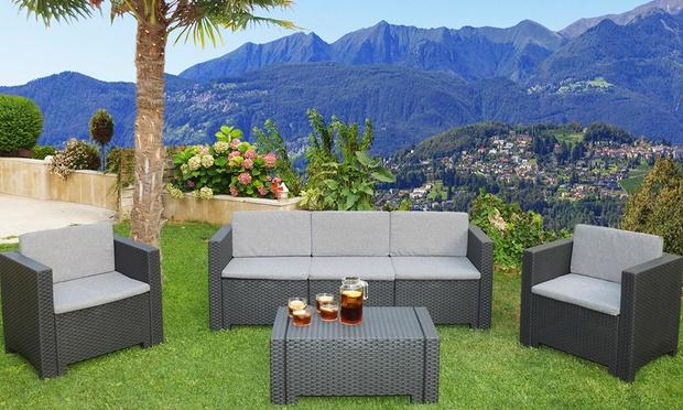 3 1 1 rattan furniture 67 off groupon goods for Outdoor furniture groupon