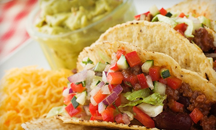 Taco Time - Taco Time - Bay Centre: $5 for $10 Worth of Mexican Food or Burrito Combos with MexiFries and Dessert Chips for Two or Four at Taco Time