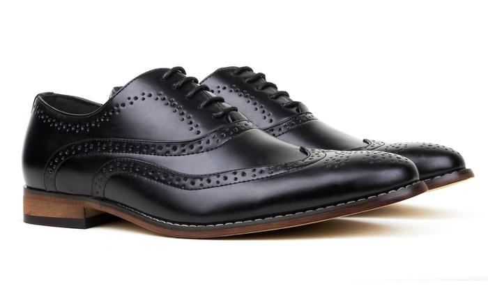 Gino Vitale Men S Dress Brogue Shoes