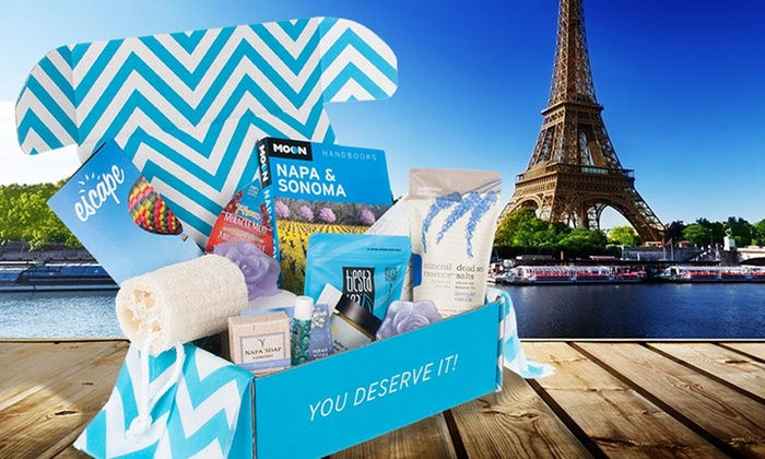 Escape Monthly Vacation in a Box: 1-Month Membership Package with Goodies from Escape Monthly. Free Shipping.